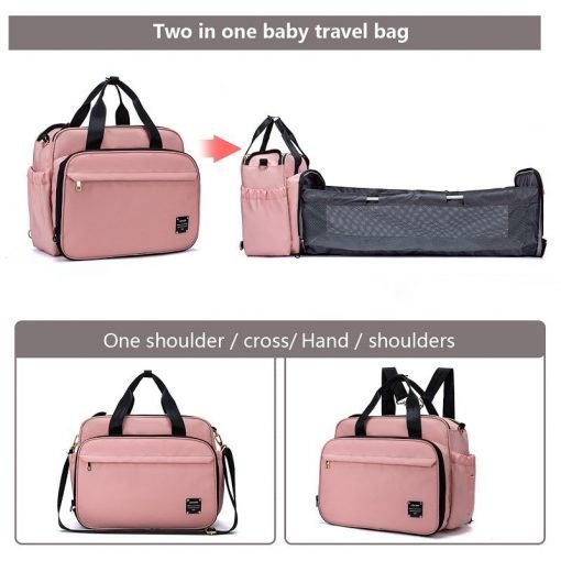 mylinne napsky bag convertible nappy travelbag with changing station